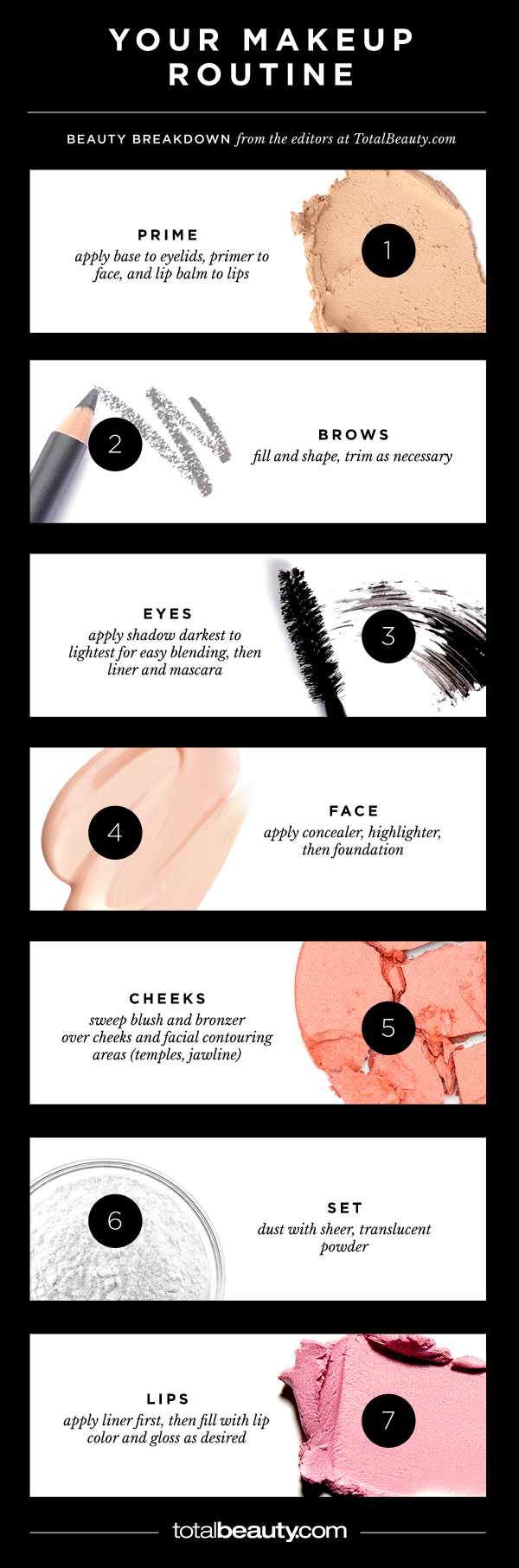 Makeup Order Order Of Makeup Application: How To Put On Makeup You